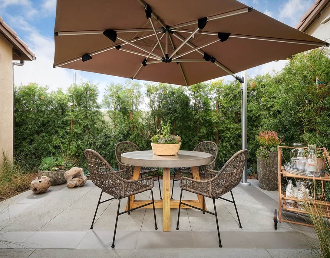 Cassis at Rancho Soleo Plan 1 Model Home Patio
