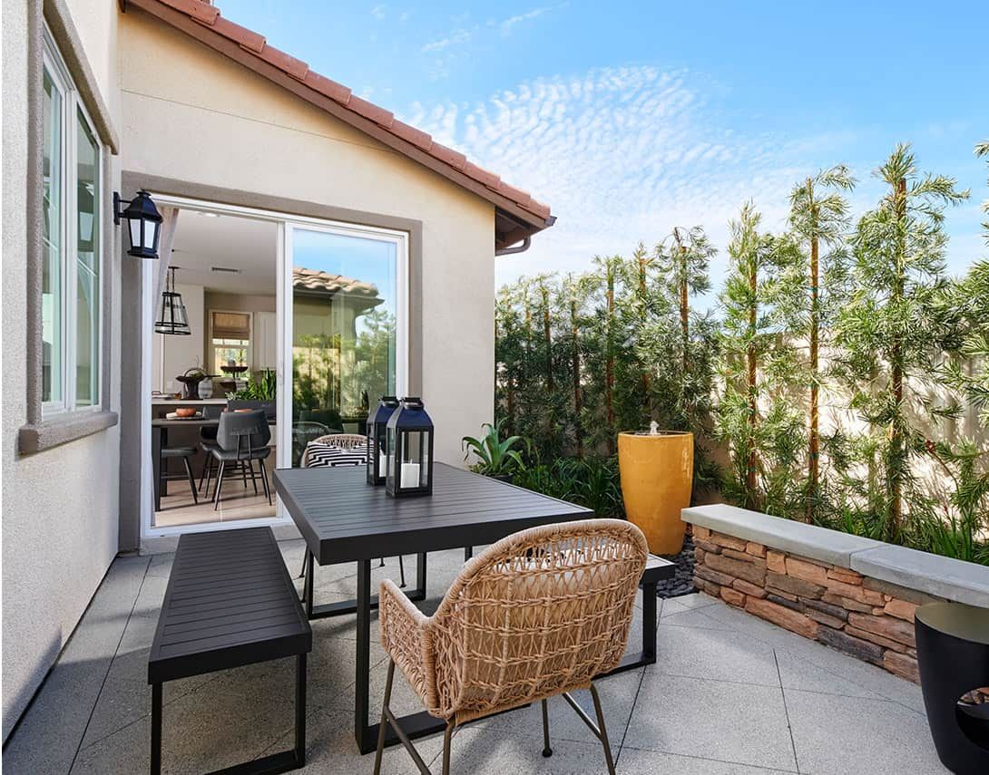 Cassis at Rancho Soleo Plan 2 Model Home Patio