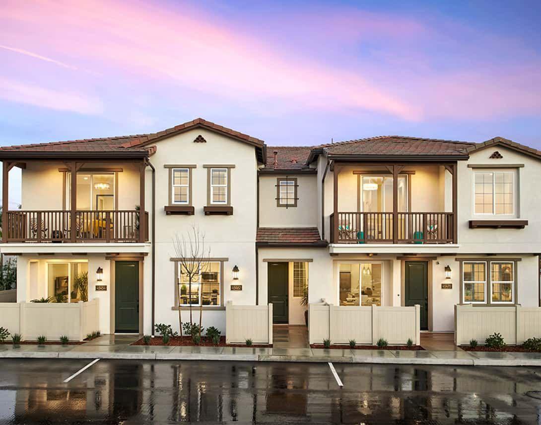 Cerro at Rancho Soleo - Triplex Model Home - Monte:Cerro at Rancho Soleo - Triplex Model Home - Monterey Exterior Style