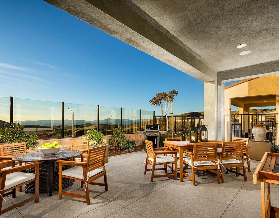Sola Plan 4 Outdoor Room:Sola At Skyline Plan 4 Model Home Outdoor Room