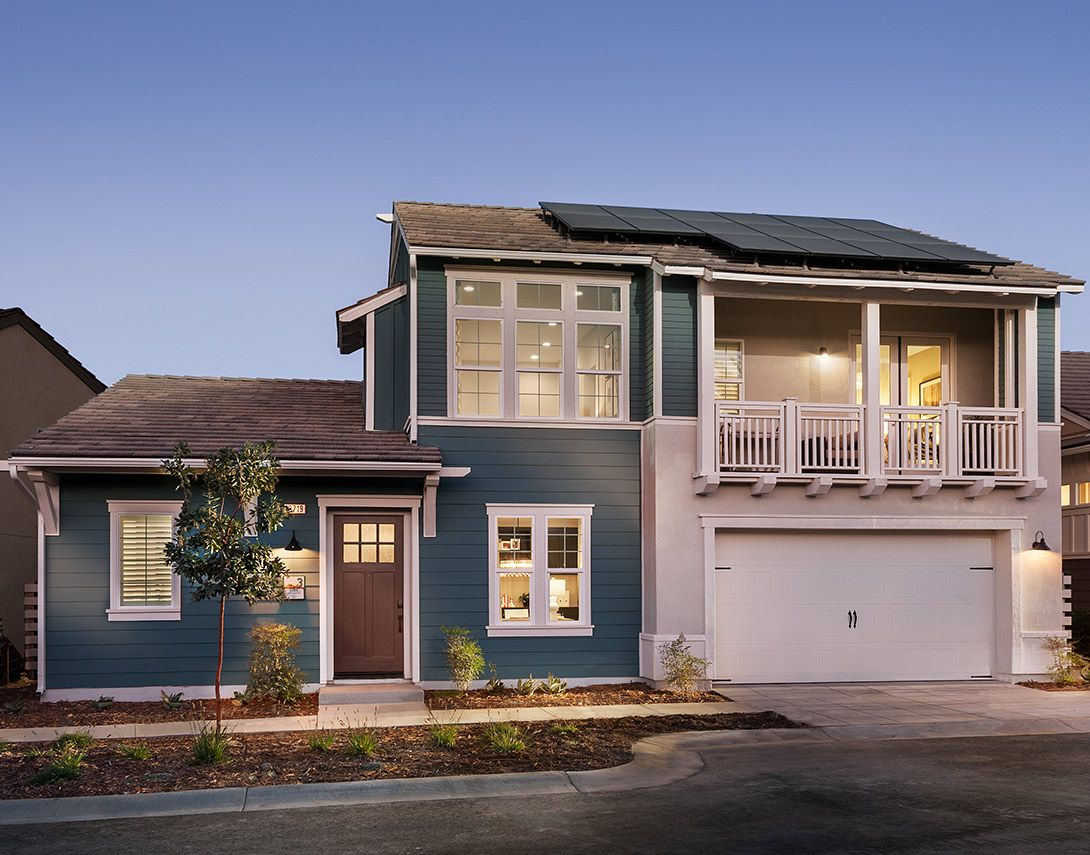 Verano-at-Aliento-Plan-3-Model-Home-Front-Exterior:Plan 3 w/ Loft Model Home - Exterior Elevation