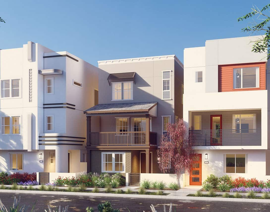 Tempo Plan 3B:Main Street Exterior Style Rendering