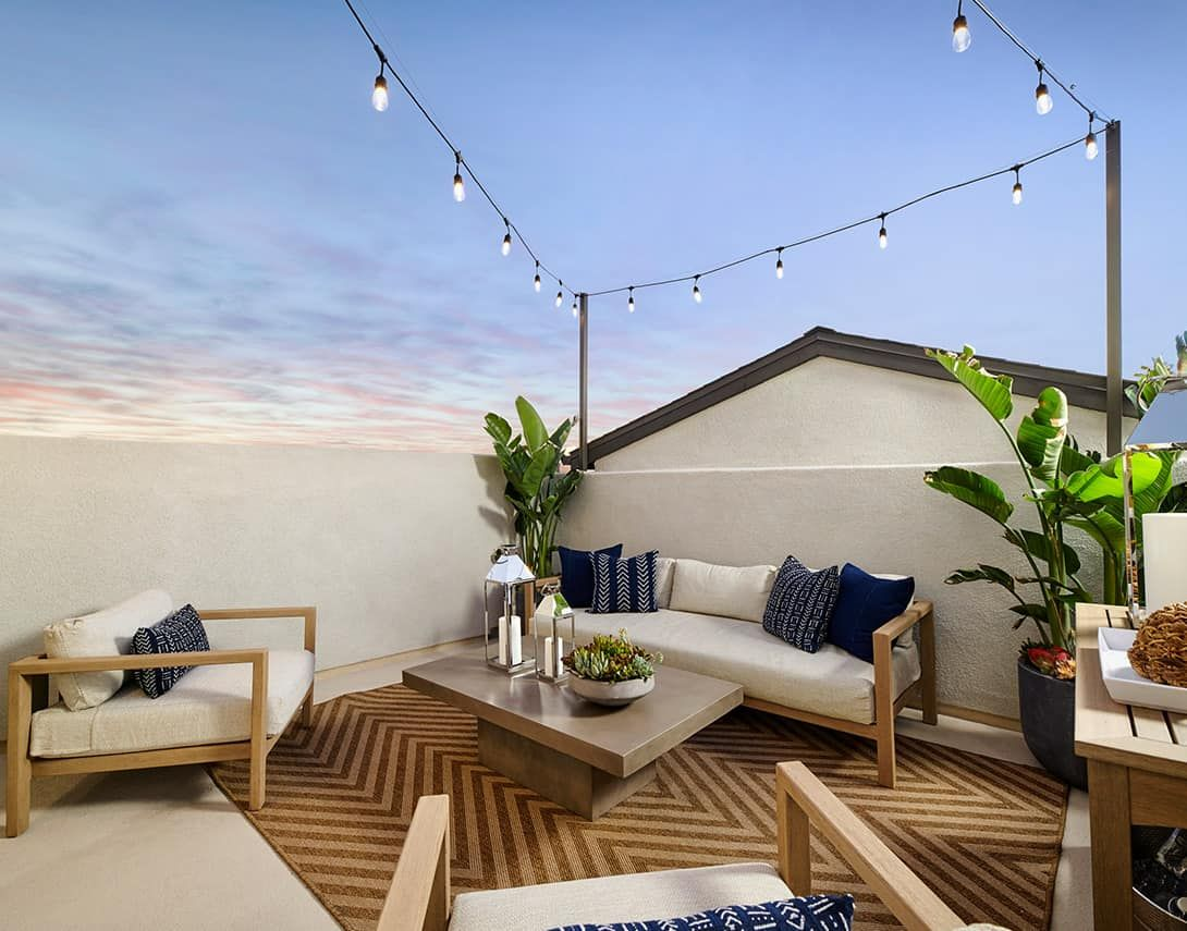 Claret At Canvas Plan 2 Model Home Roof Deck