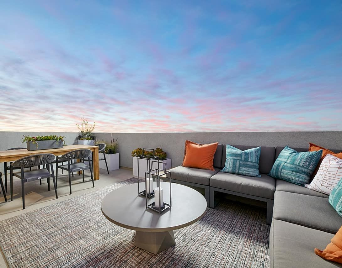 Claret At Canvas Plan 3 Model Home Roof Deck