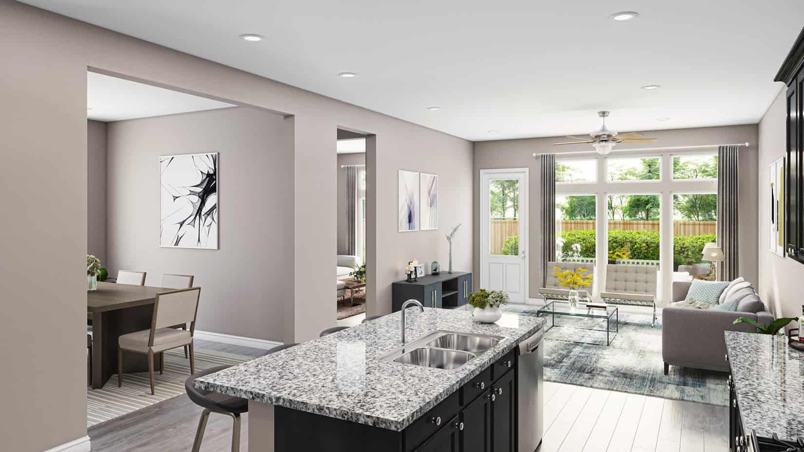 Representative Only | Merganser Plan | Kitchen & F:Representative Only | Merganser Plan | Kitchen & Family Room