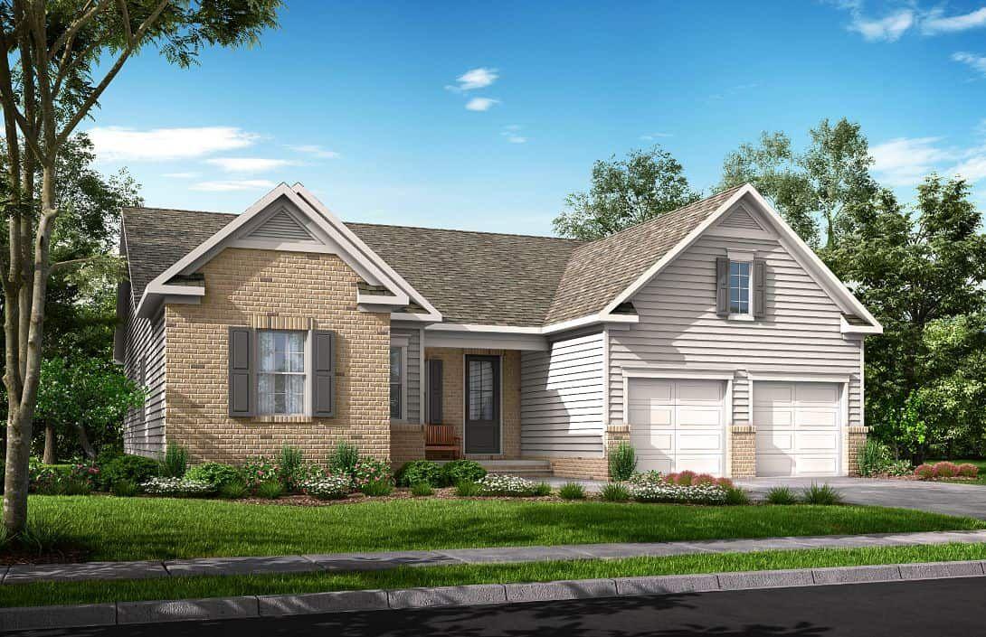 Traditional Brick Exterior:Balsam | Residence 2- Exterior Rendering