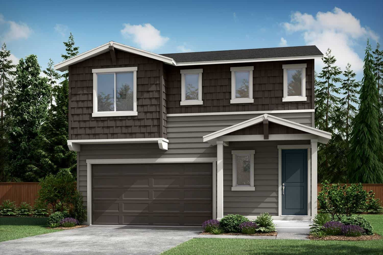 Plan A-240 Exterior Style A:Northtwest Craftsman
