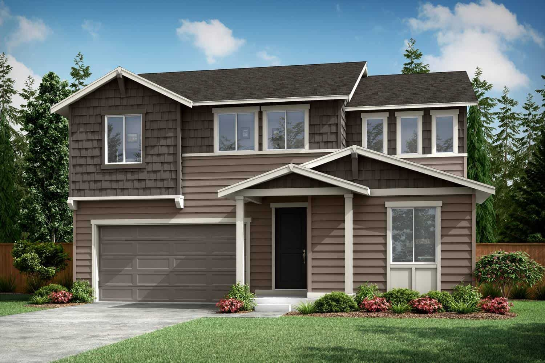 Plan A-280 Exterior Style A:Northwest Craftsman