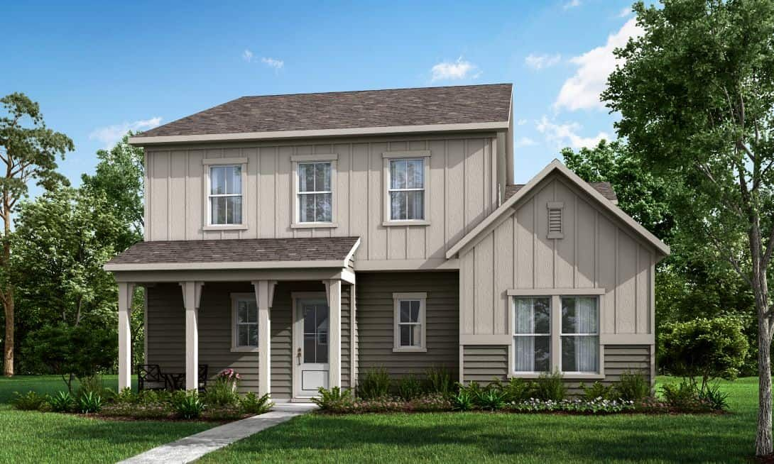 Elevation A:Mayes Hall | Plan 4- Exterior Rendering- Elevation A