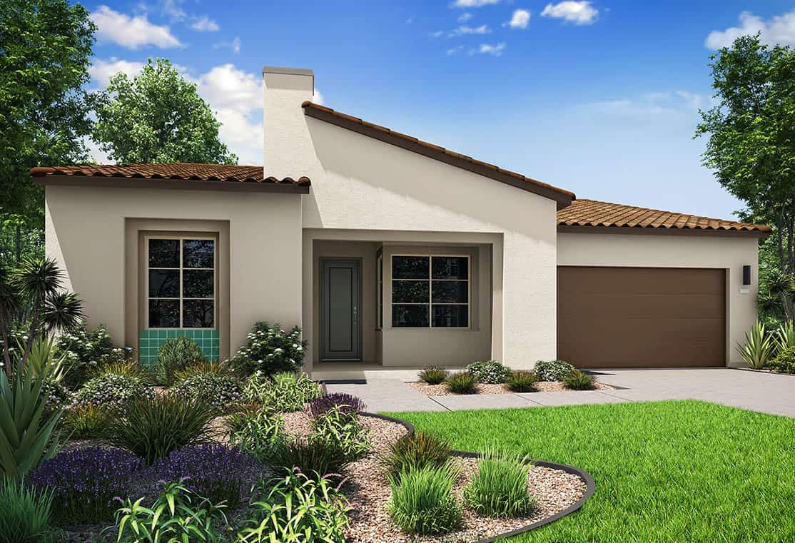 Elevation A | Spanish Exterior:Elevation A features the spanish exterior style