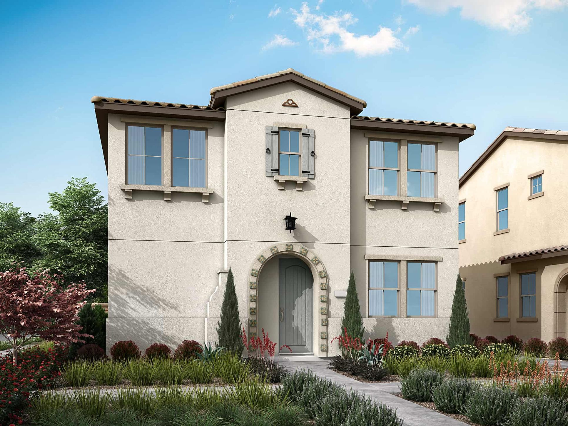 Plan 3A:Spanish Colonial Exterior Style | Preliminary Rendering