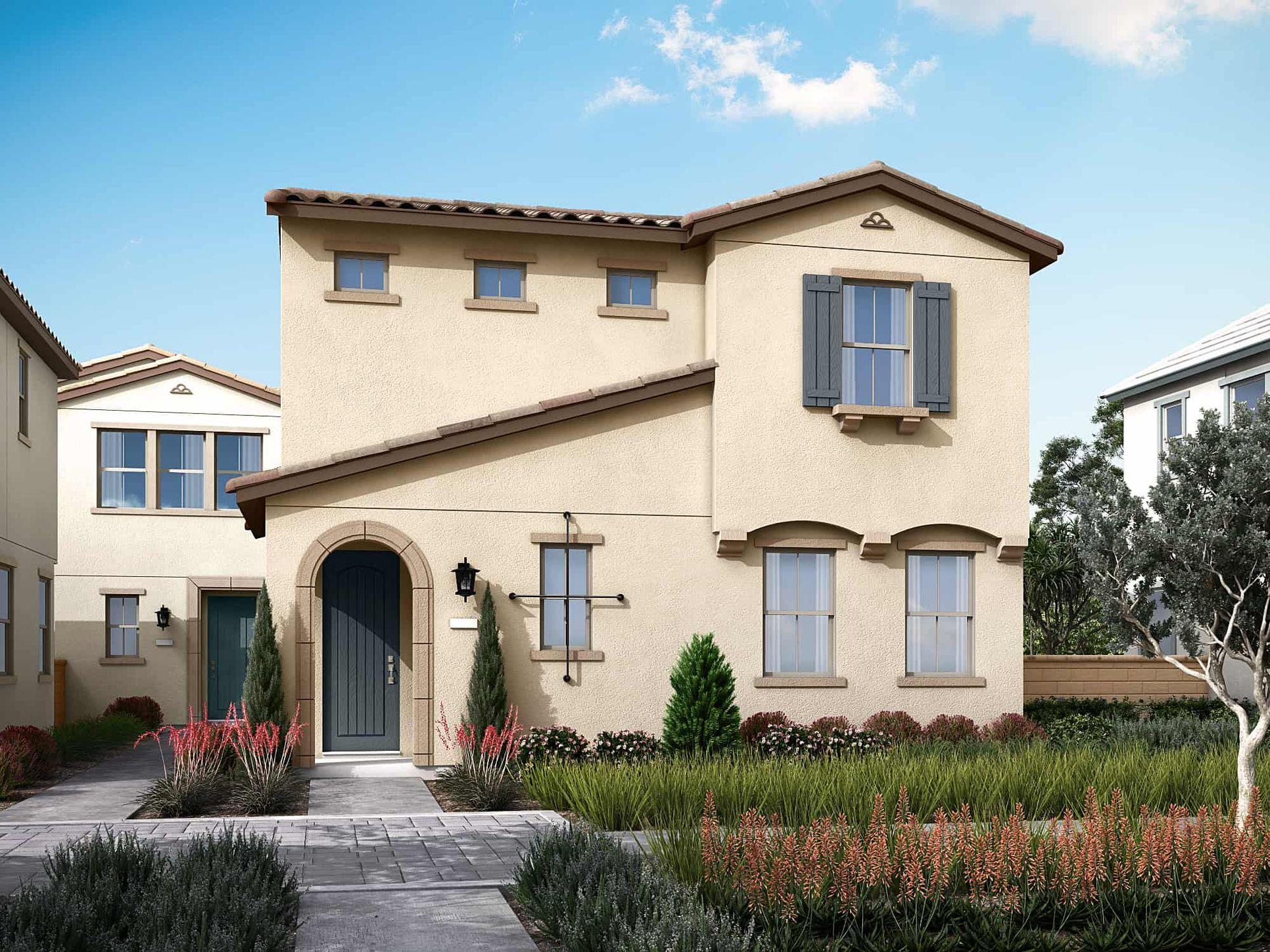 Delia Plan 2A:Spanish Colonial Exterior Style | Preliminary Rendering
