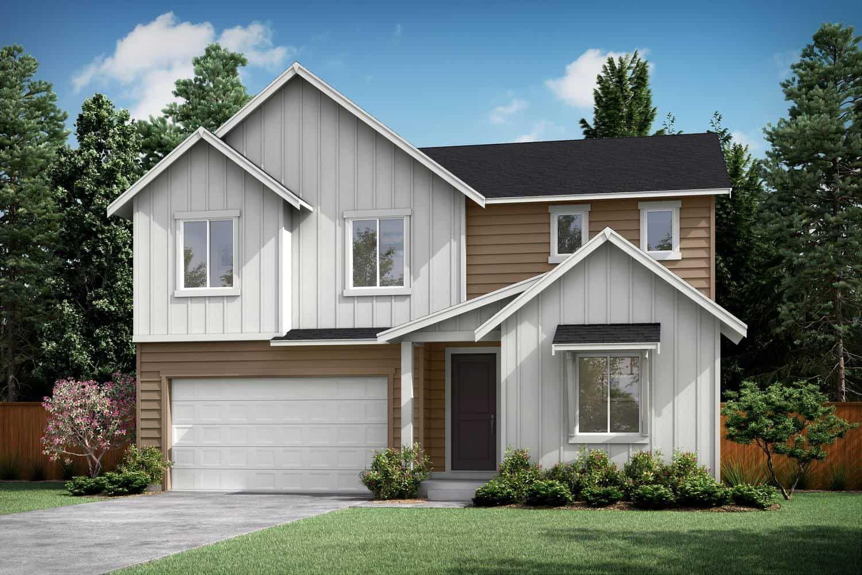 Plan A-300 Exterior Style B:Transitional Farmhouse