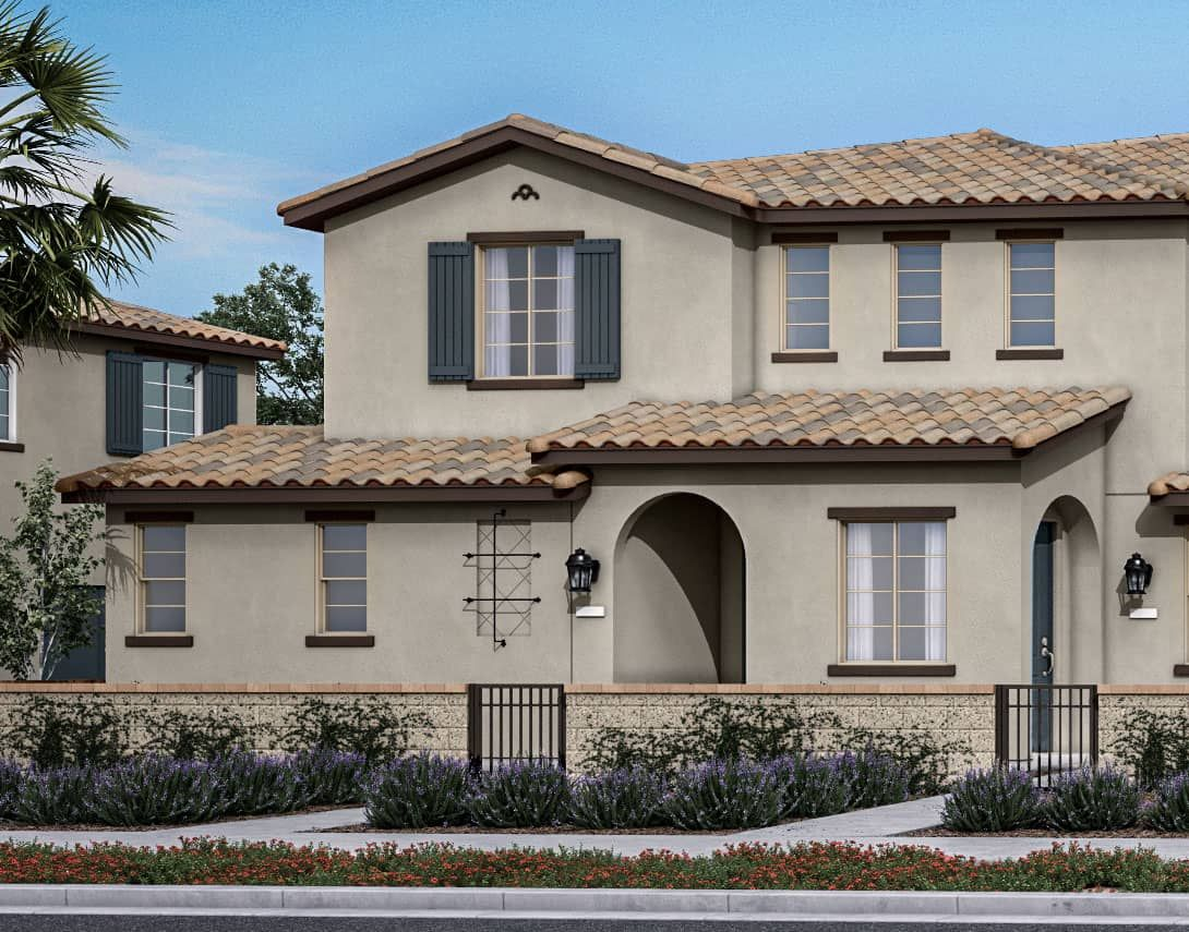 Birch Bend Plan 5A:Spanish Colonial Exterior Style Rendering