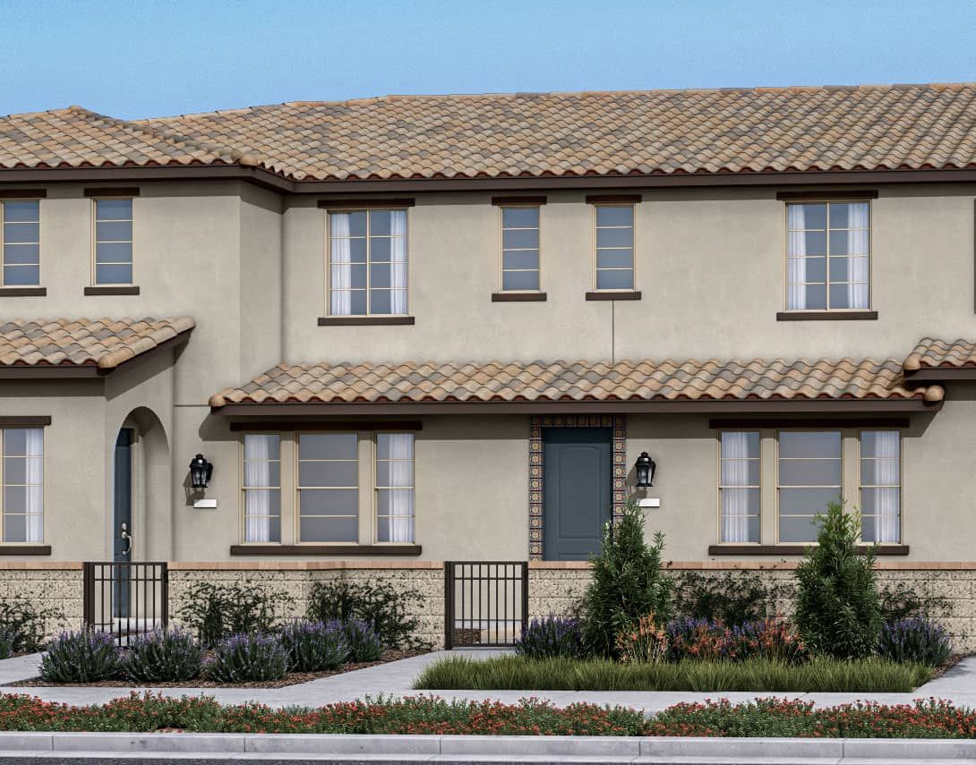 Birch Bend Plan 3A:Spanish Colonial Exterior Style Rendering