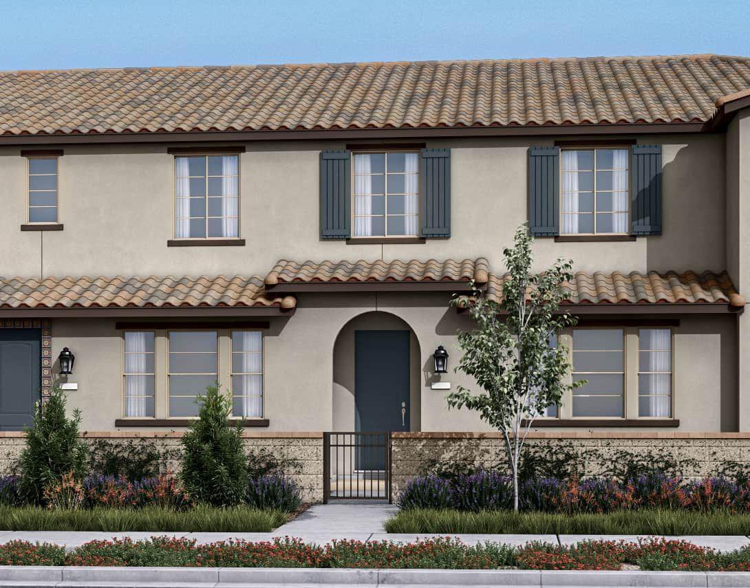 Birch Bend Plan 2A:Spanish Colonial Exterior Style Rendering