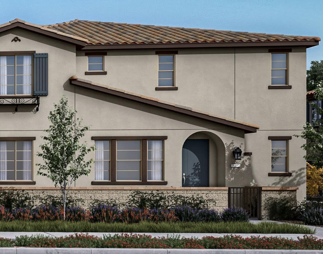 Birch Bend Plan 1A:Spanish Colonial Exterior Style Rendering