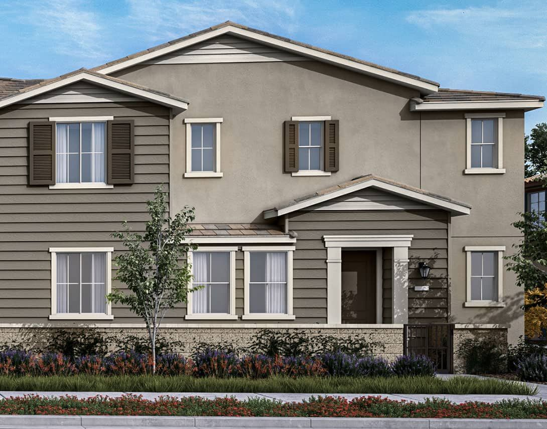 Birch Bend Plan 1B:Colonial Exterior Style Rendering