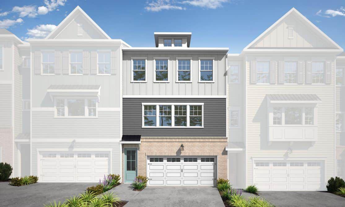 Townes at North Salem | Residence 1 - Homesite 90:Townes at North Salem | Residence 1 - Homesite 90 Exterior Style