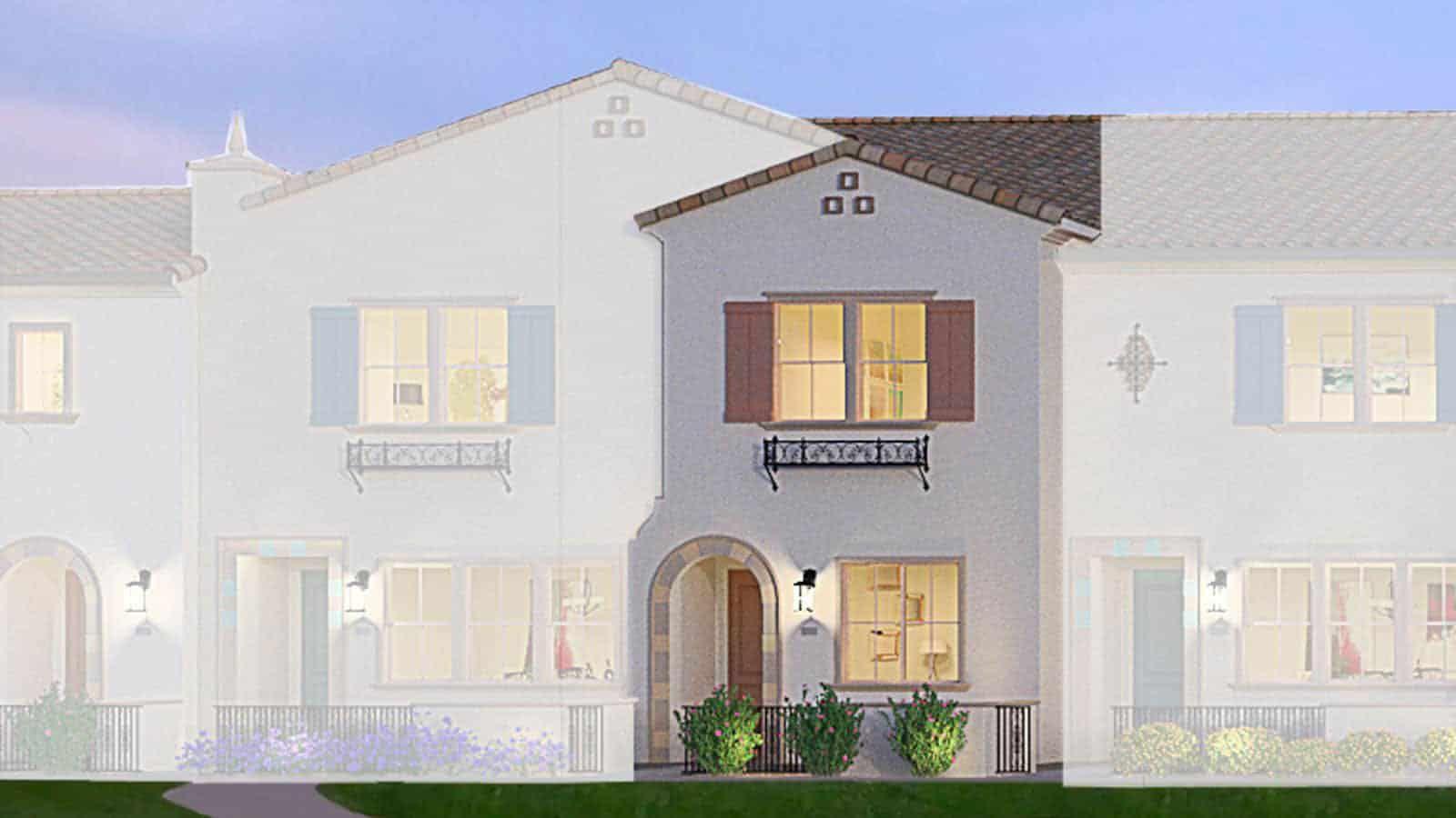 Residence 1 Spanish Elevation Rendering
