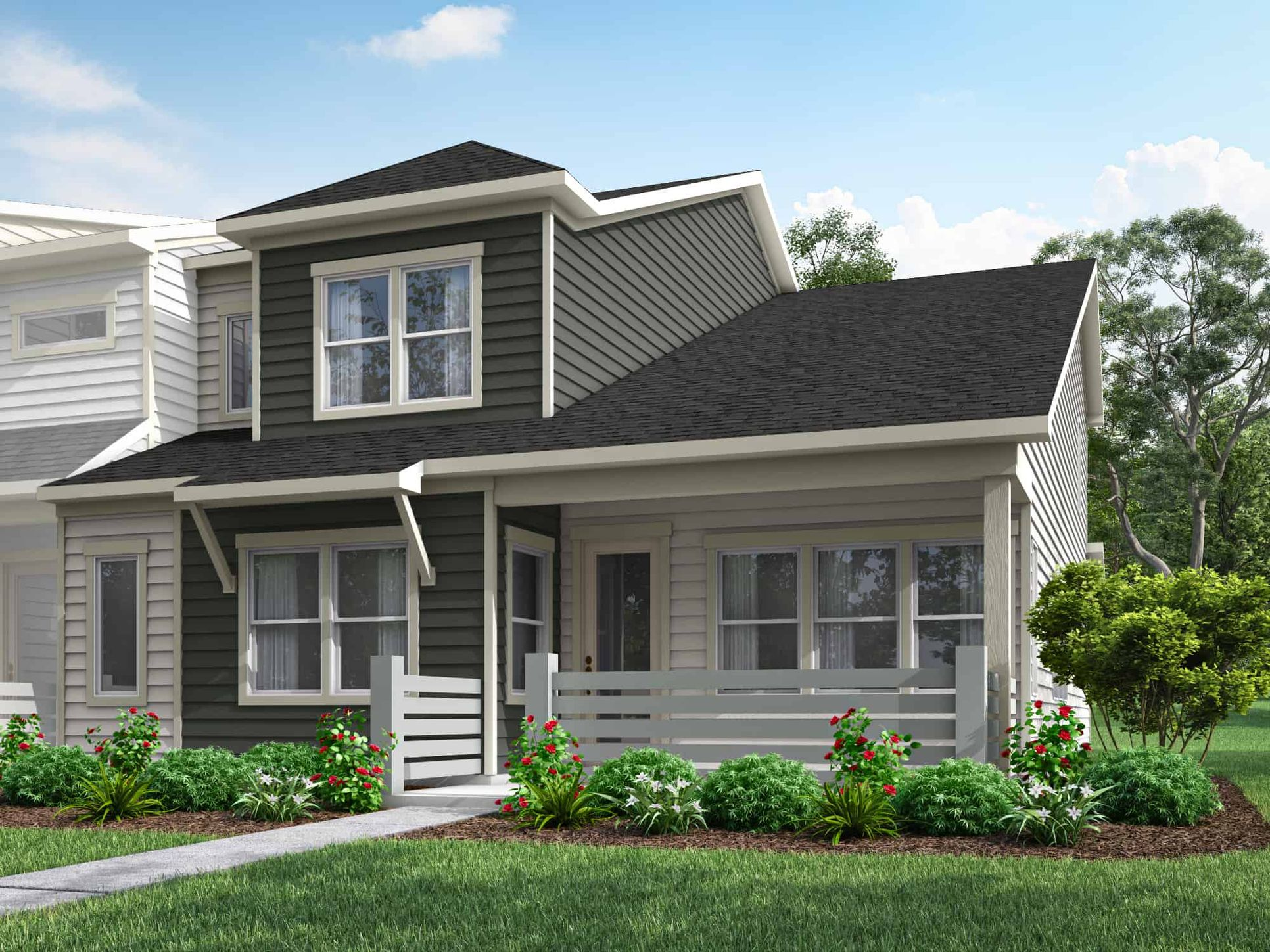 Pennant Square | Plan 3 - Exterior Style A