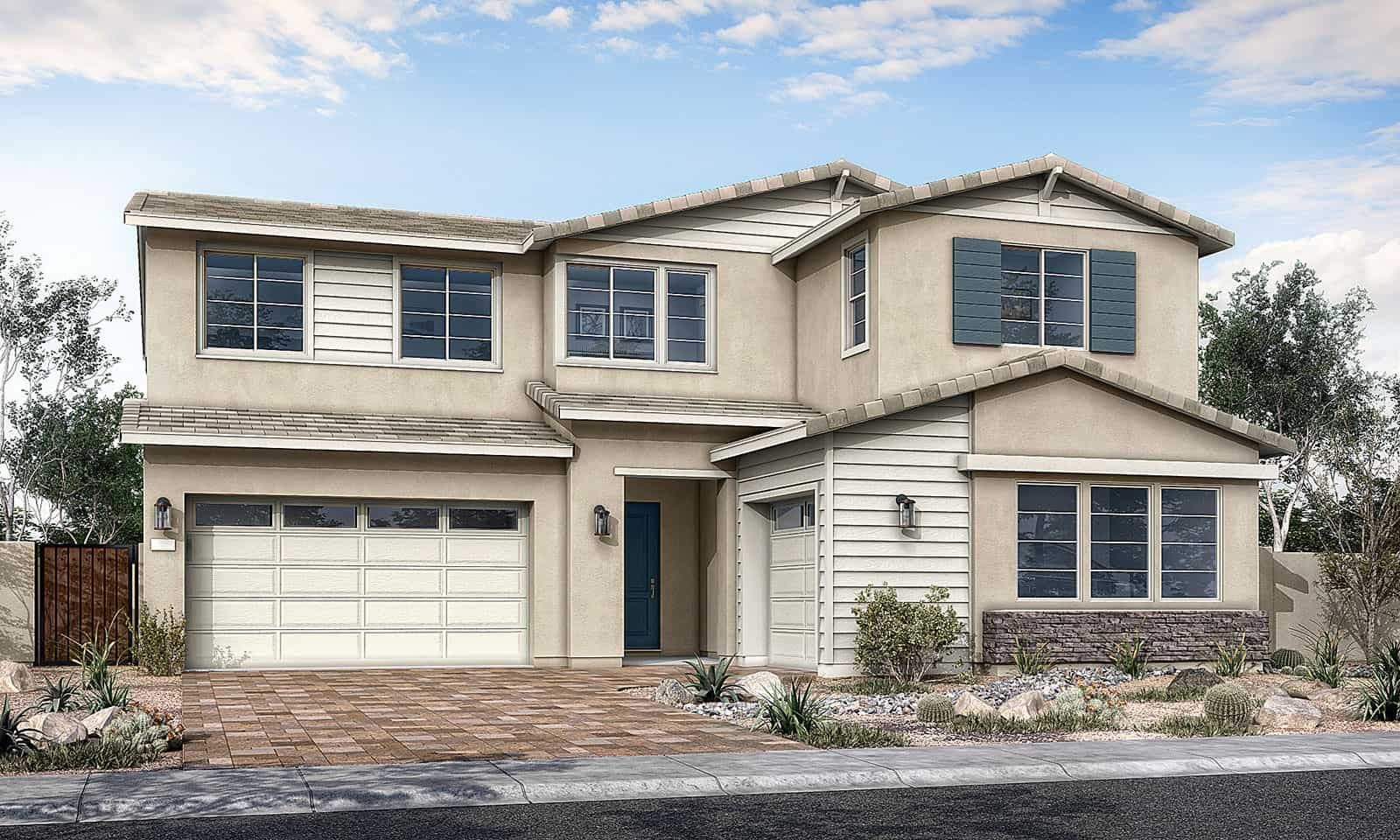 Wildberry Plan 50-8 Ranch Elevation A