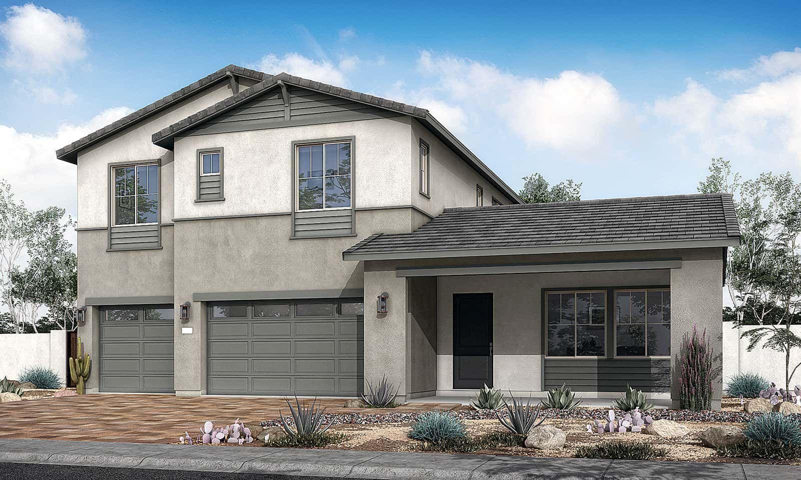 Homesteader Plan 60-5 Ranch Elevation A