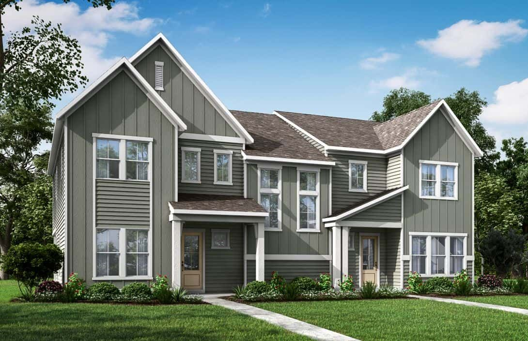 Mayes Hall | Plan 5 Paired Villa Exterior Styles A:Mayes Hall | Plan 5 Paired Villa Exterior Styles A/B