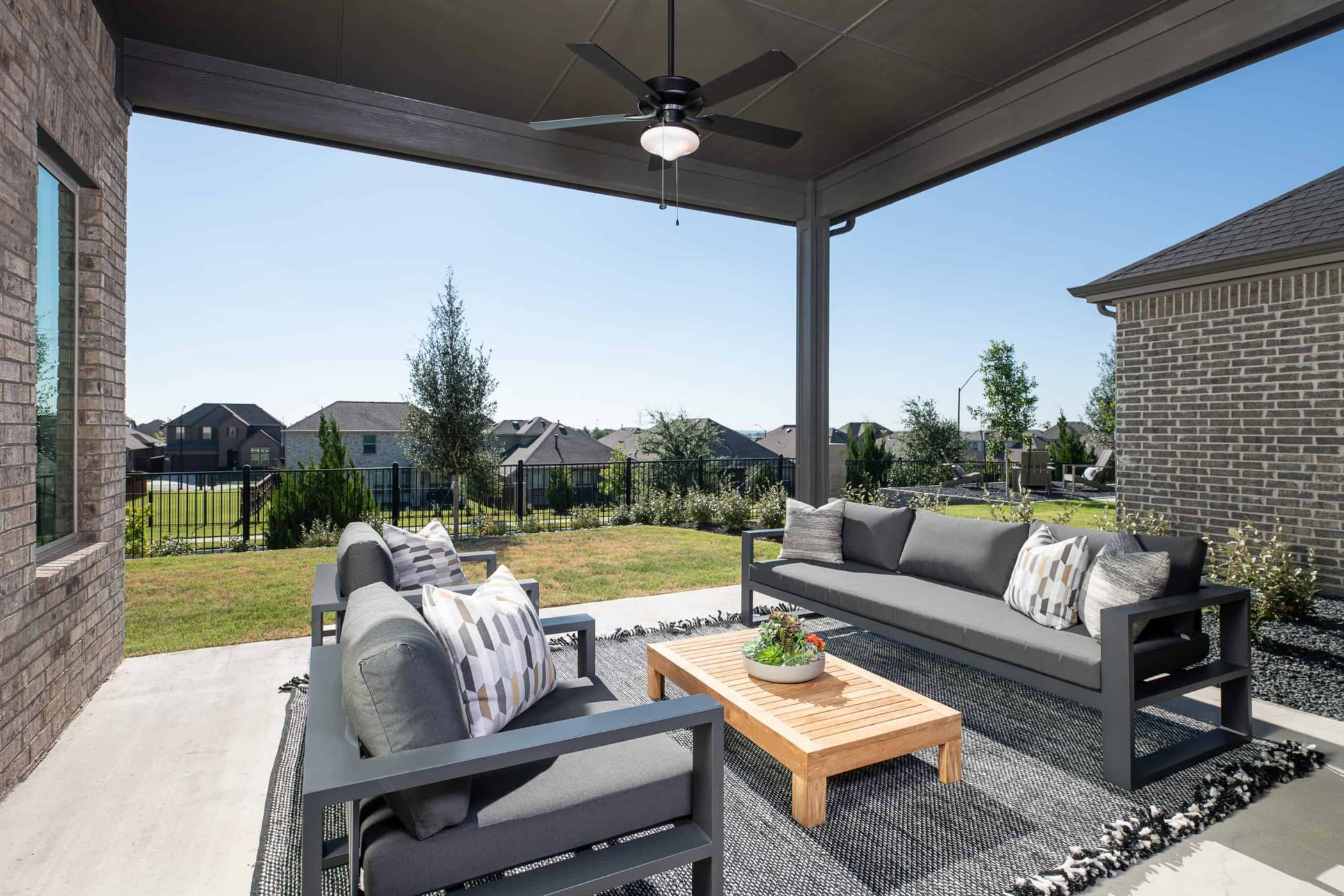 Covered Patio:Logan Model Home