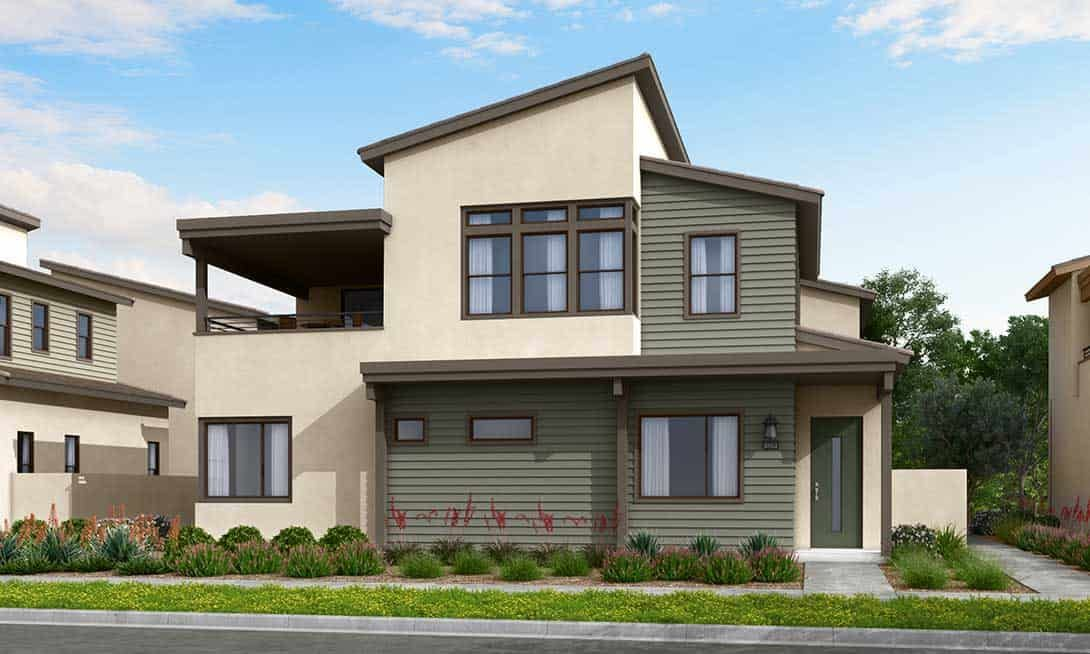 Rowan at Valencia Plans 1B & 2B:Seaside Exterior Style Rendering