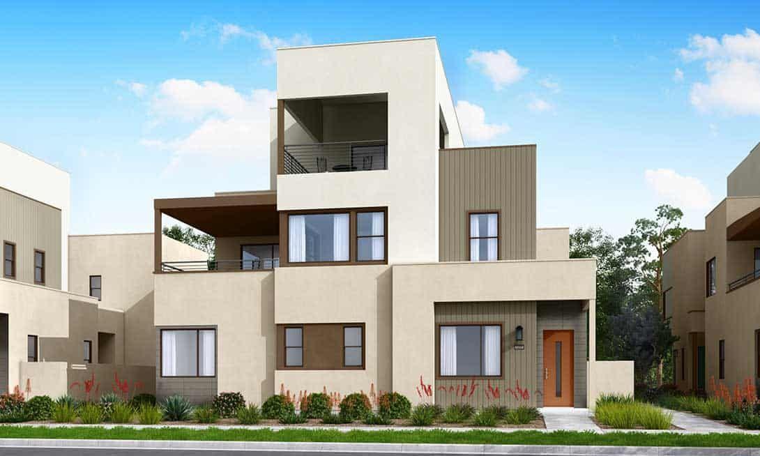 Rowan at Valencia Plans 1A & 3A:Modern Exterior Style Rendering