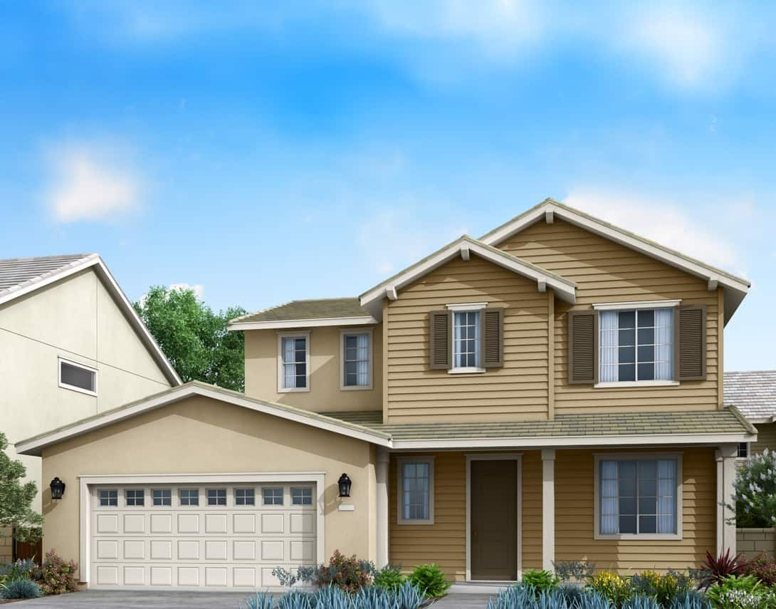 Goldenrod at Aurora Park Plan 1A:Traditional Exterior Style Rendering