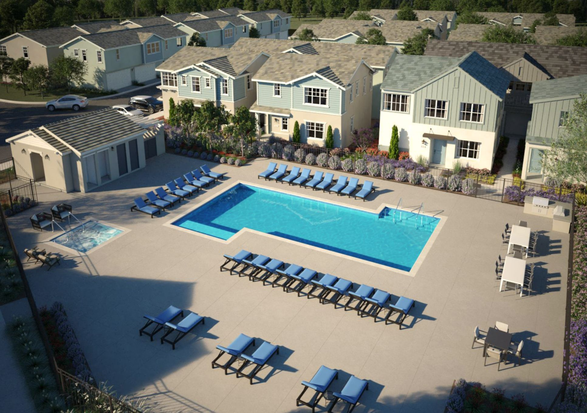 Pool, Spa & BBQ Complex:Pool, Spa & BBQ Complex