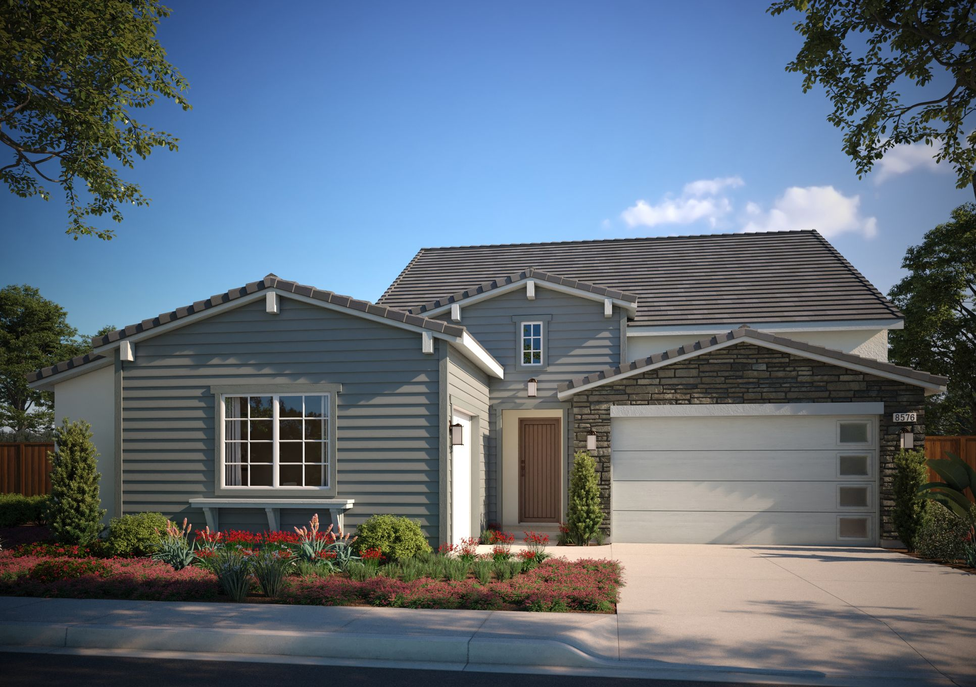 Residence 1C Modern Ranch:Residence 1C Modern Ranch