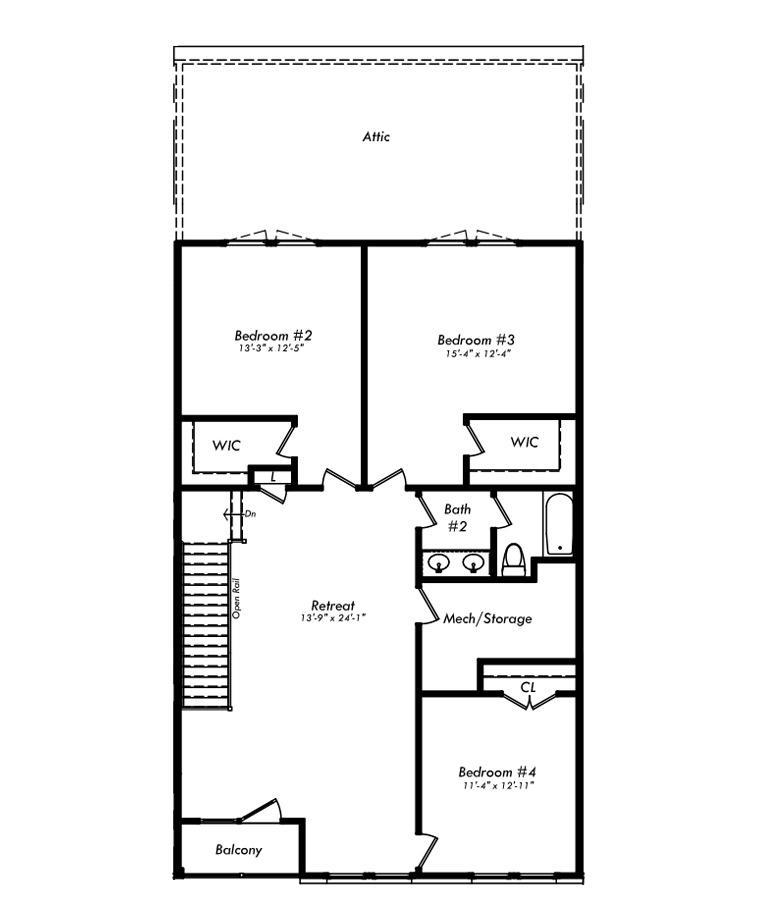 Upper Level with Options:with Upper Level Alternate Floorplan