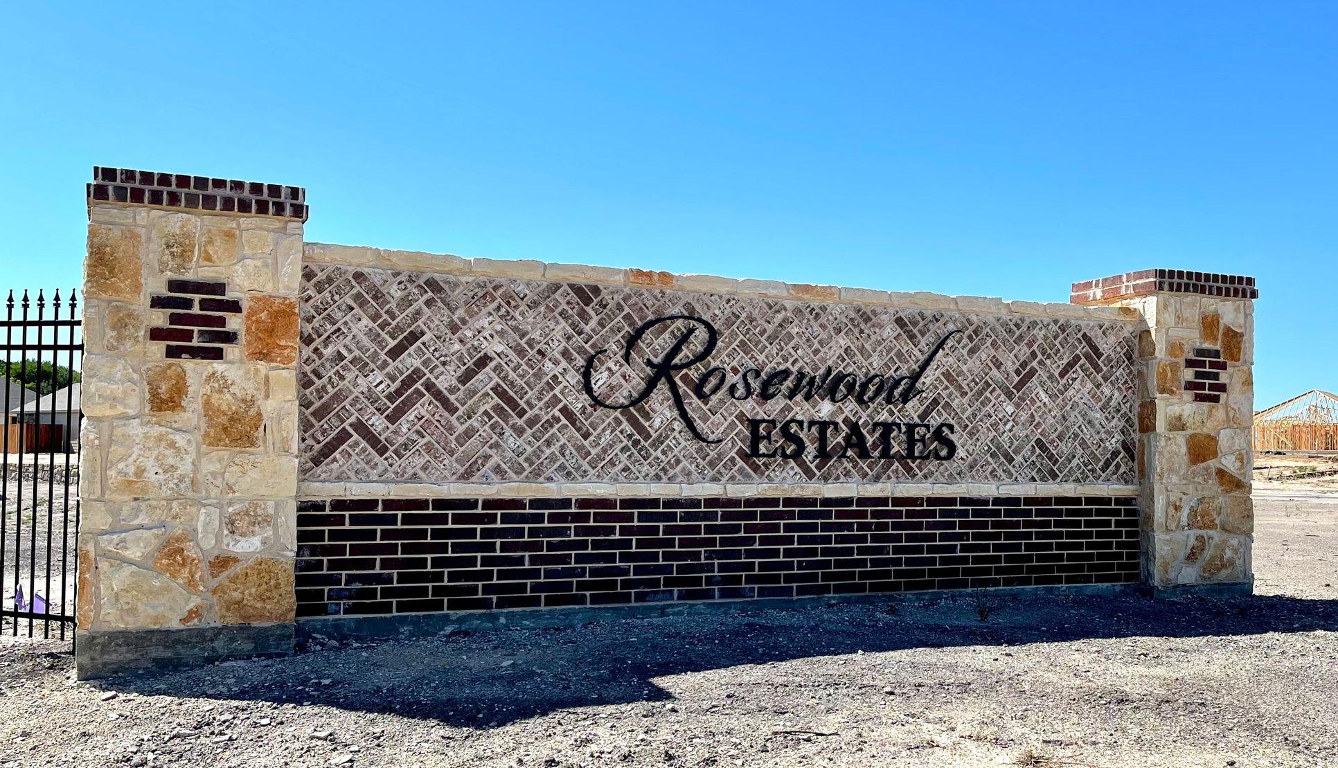 Rosewood Estates Entrance