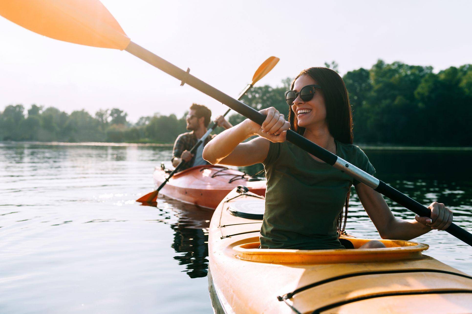 Kayaking on Indigo Lake:Kayaking on Indigo Lake