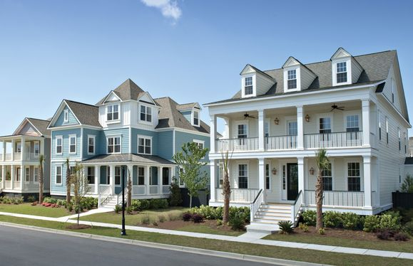 Streetscape of Homes