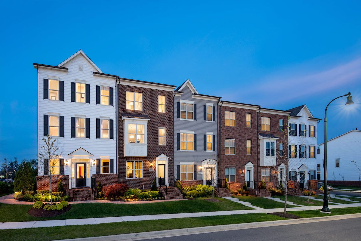 Winchester Homes - uncategorized - 2077:The Manor Townhomes feature an inspired, contemporary design