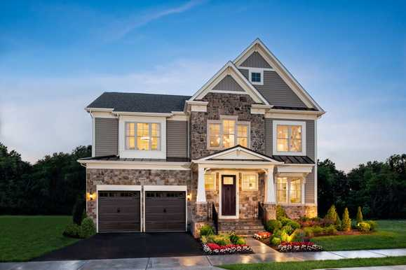 New Homes in Clarksburg, MD by Winchester Homes:The Wright model at Cabin Branch Classic Series