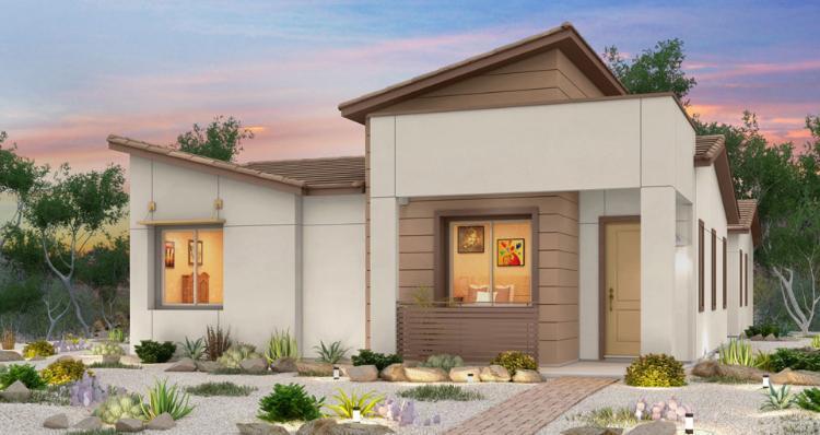 Elevation:Woodside Homes - Jasmine Plan - Lot 6