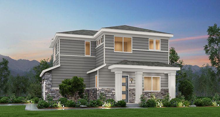 Elevation:Woodside Homes - Maple - SWS