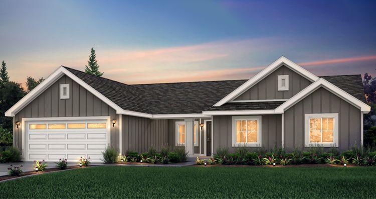 Elevation:Woodside Homes - Barrington - SCP