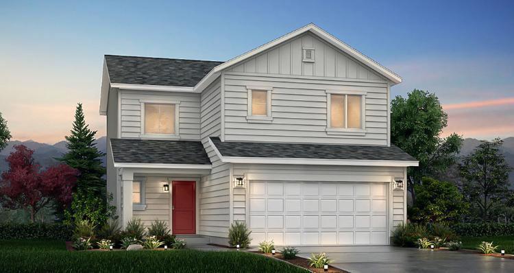 Elevation:Woodside Homes - Juniper - SPV