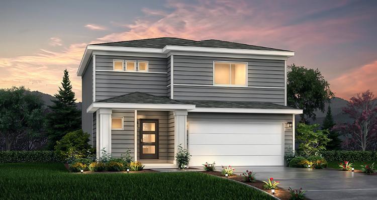Elevation:Woodside Homes - Spruce - SPV