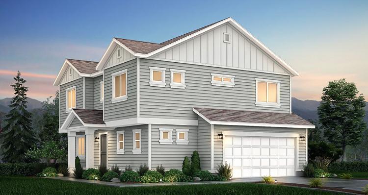 Elevation:Woodside Homes - Aspen - SPV