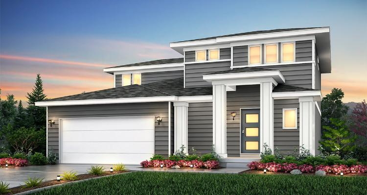 Elevation:Woodside Homes - Amesbury - LTC