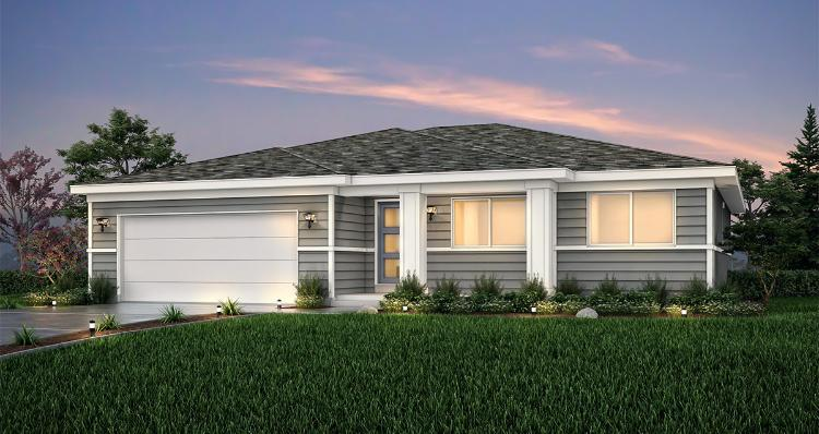 Elevation:Woodside Homes - Hanbury - LTC