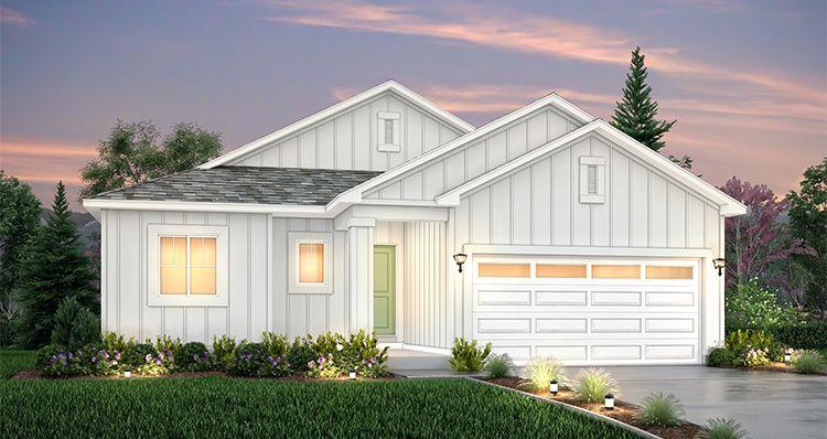 Elevation:Woodside Homes - Edgewater - LTC