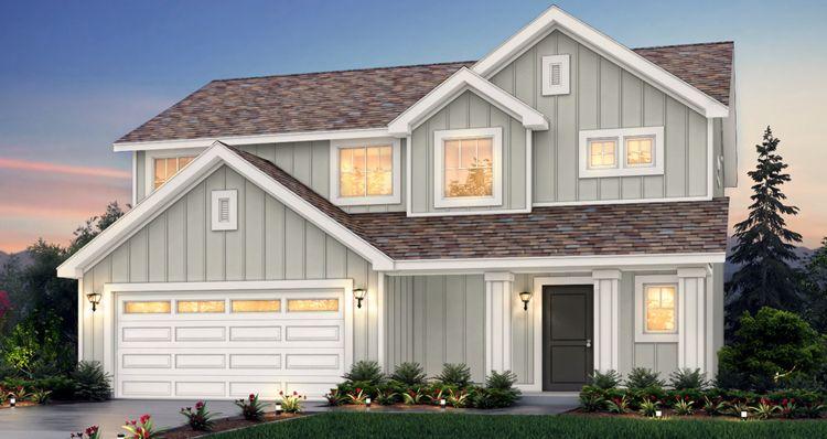 Elevation:Woodside Homes - Lot 503 - Amesbury